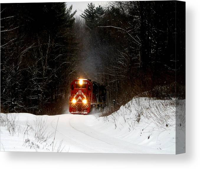 Train Canvas Print featuring the photograph Train by Lisa Jaworski