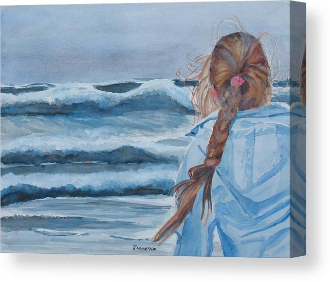 Ocean Canvas Print featuring the painting Twixt Wind And Water II by Jenny Armitage