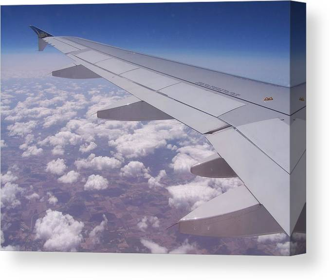 Plane Canvas Print featuring the photograph Up Above The World So High by Stacey Highfield