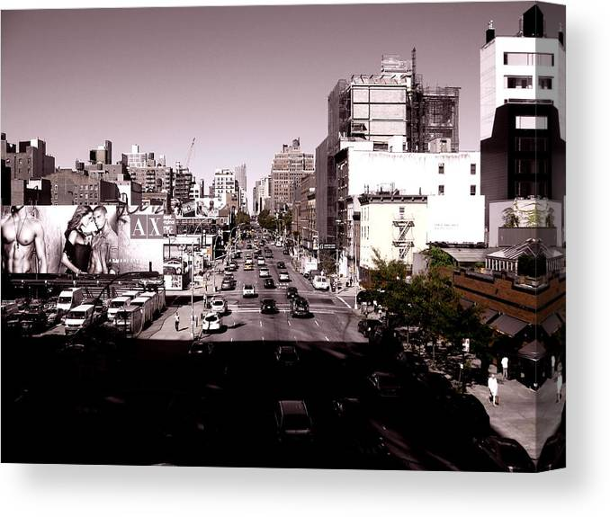 New York Canvas Print featuring the photograph View From The Highline by Ariane Moshayedi
