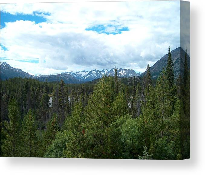 Alaska Canvas Print featuring the photograph Vistas Along The Alcan by Janet Hall