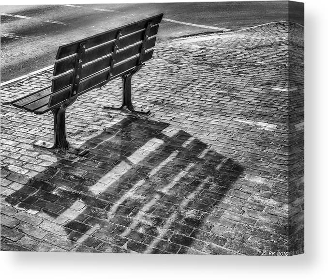 Bench Canvas Print featuring the photograph Waiting For Proposal by Richard Bean