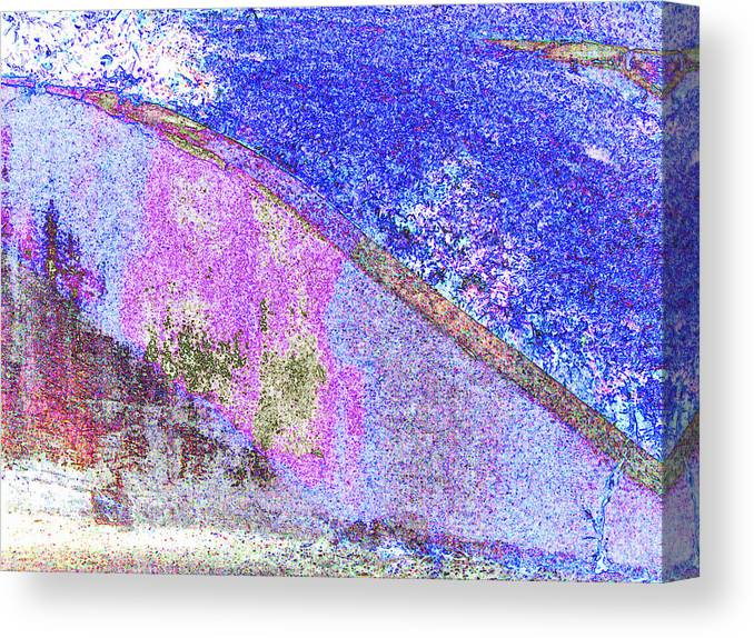 Abstract Canvas Print featuring the digital art Wall by John Toxey