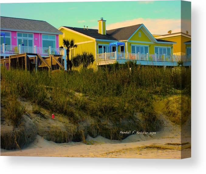 Kendall Kessler Canvas Print featuring the photograph Warm Evening At Isle Of Palms by Kendall Kessler