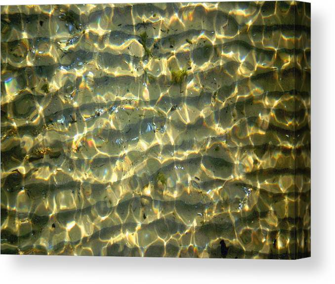 Photo Canvas Print featuring the photograph Wave Abstract by Michael Durst