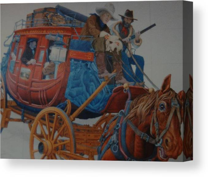 Mural Canvas Print featuring the photograph Wells Fargo Stagecoach by Rob Hans