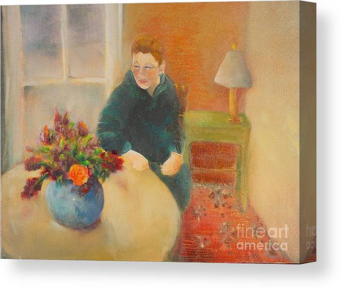 Portrait Canvas Print featuring the painting William  Copyrighted by Kathleen Hoekstra