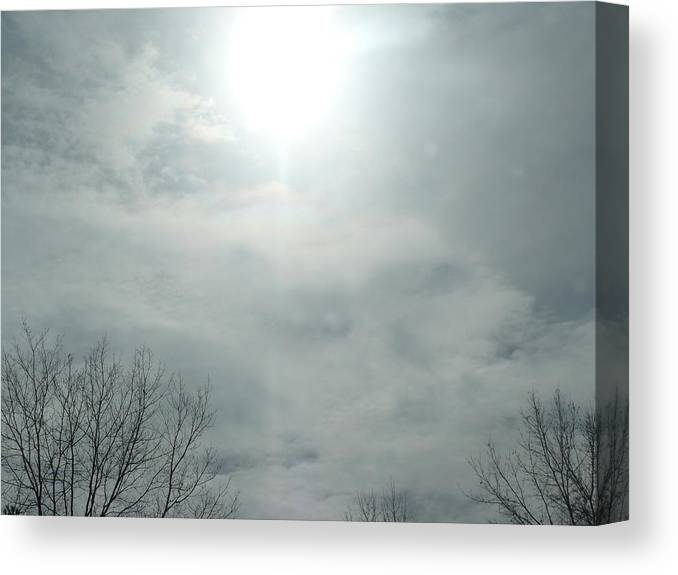 Sun Canvas Print featuring the photograph Winter Sunlight Fighting The Clouds by Herbert Rioja