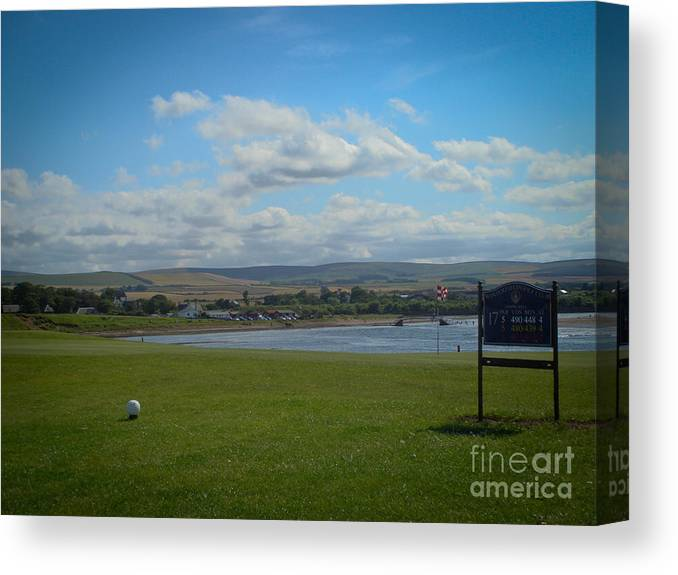 Winterfield Golf Club Canvas Print featuring the photograph Winterfield Golf Club by Yvonne Johnstone