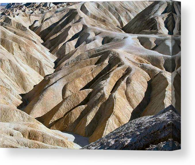 Nature Canvas Print featuring the photograph Zabriskie Point by William Thomas