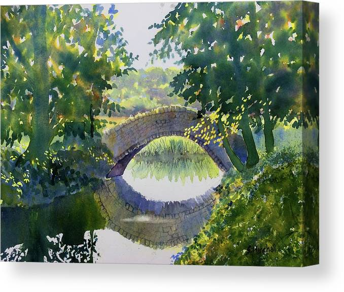 Watercolour Canvas Print featuring the painting Bridge Over Gypsy Race by Glenn Marshall