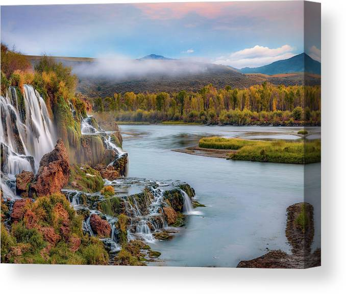 Idaho Scenics Canvas Print featuring the photograph Fall Creek Autumn by Leland D Howard