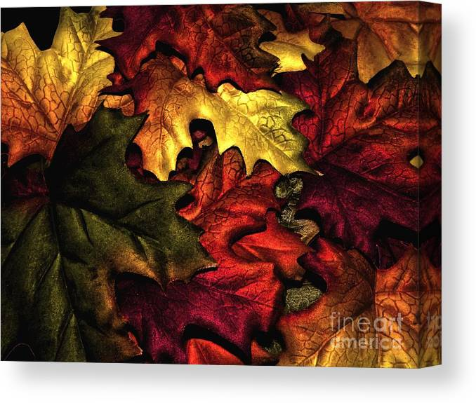 Fall Canvas Print featuring the photograph Fall Is On The Ground by Charleen Treasures