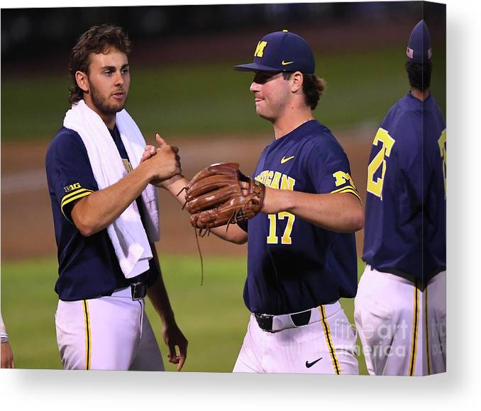 Relief Pitcher Canvas Print featuring the photograph Michigan V Ucla - Game One by Jayne Kamin-oncea