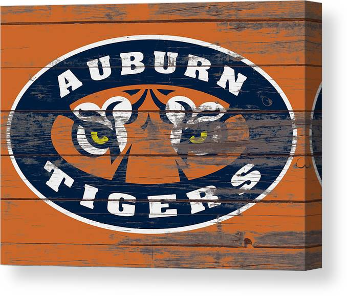 Auburn Tigers Canvas Print featuring the mixed media The Auburn Tigers 5b by Brian Reaves