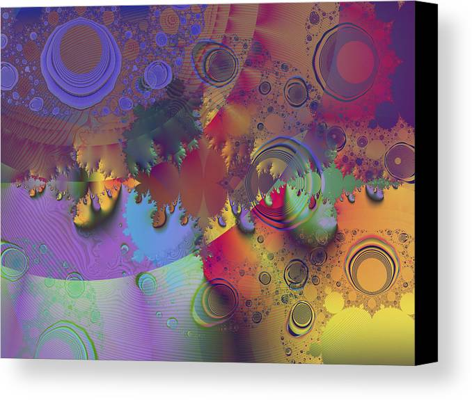 Fractal Canvas Print featuring the digital art Ink's Spots by Elisa Locci