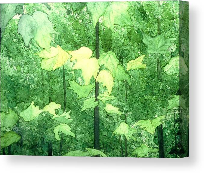 Watercolor Canvas Print featuring the painting Freefall by Cynthia Ann Swan