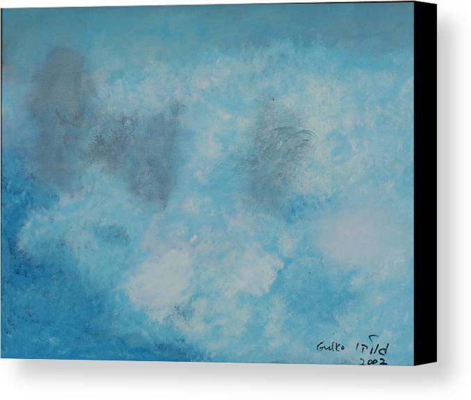 Clouds Canvas Print featuring the painting Gathering Storm Clouds  by Harris Gulko