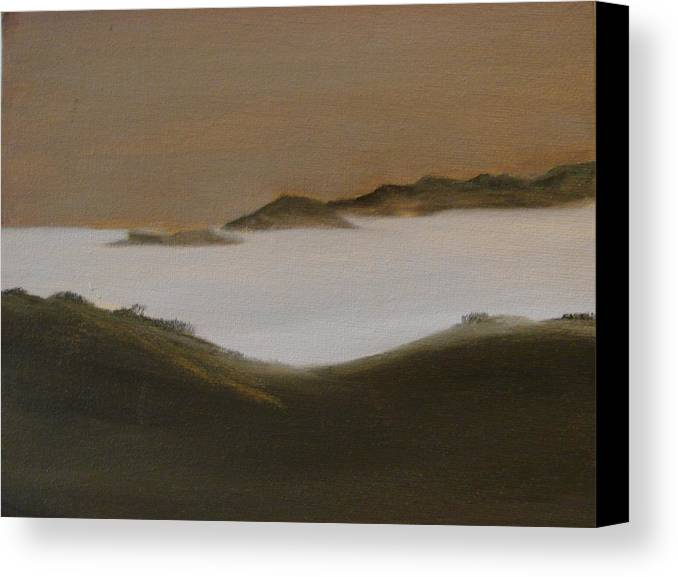 Landscape Canvas Print featuring the painting Twilight Anacapa Island by Dottie Briggs
