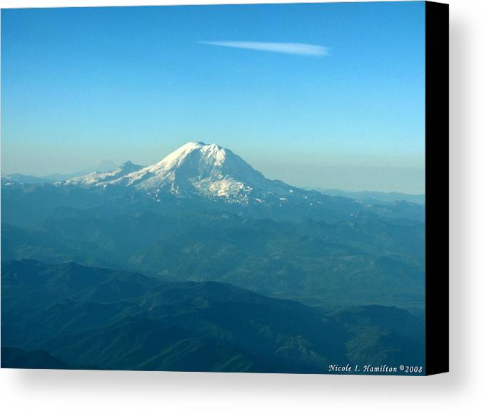 Mountain Canvas Print featuring the photograph Distant Mountain by Nicole I Hamilton