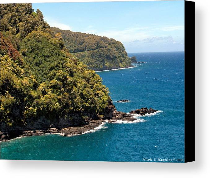 Landscape Canvas Print featuring the photograph Mountains And Sea by Nicole I Hamilton