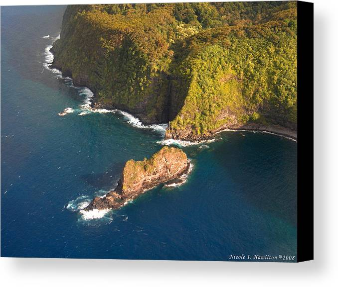 Landscape Canvas Print featuring the photograph Rocky Shore by Nicole I Hamilton
