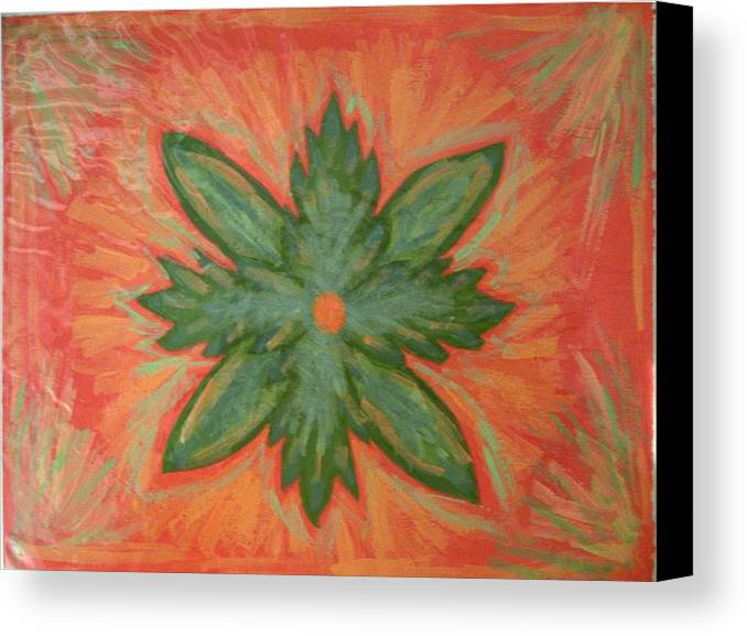 Flower Canvas Print featuring the painting Green Dream by Laura Lillo