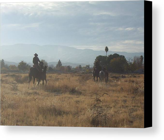 Western Canvas Print featuring the photograph On The Range by Janey Loree