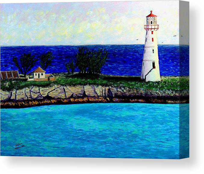 Lighthouse Canvas Print featuring the painting Lighthouse IIi by Stan Hamilton