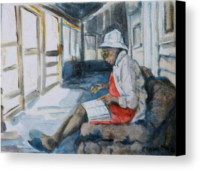 Morning Canvas Print featuring the painting Morning Meditation by Ruth Mabee