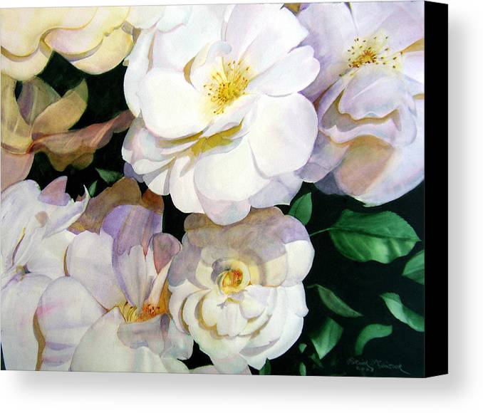 Floral Roses Canvas Print featuring the painting Big Floral by Patrick McClintock
