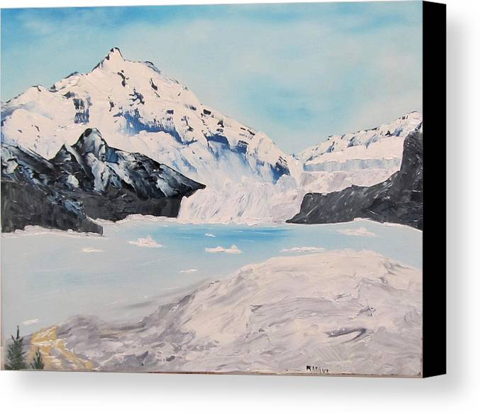 Alaska Canvas Print featuring the painting Hubbard Glacier by Larry Marano