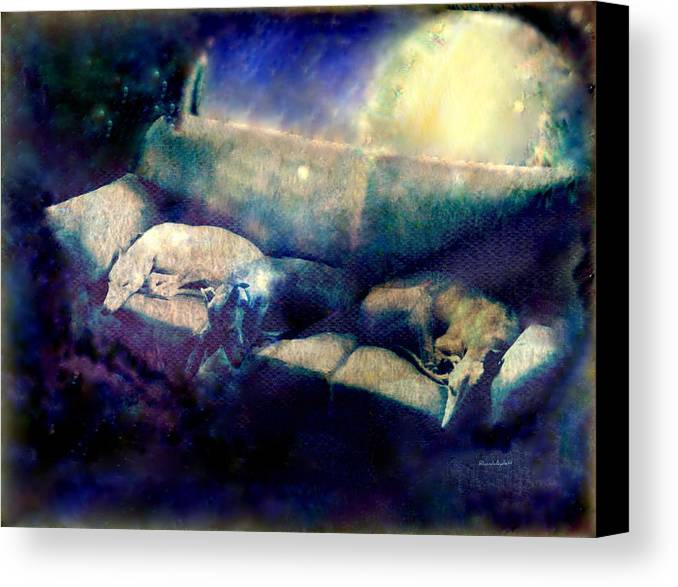 Canvas Print featuring the mixed media Nap Time Dreams by YoMamaBird Rhonda