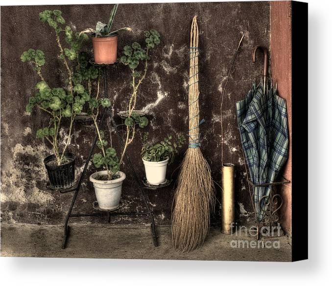 Monochrome Canvas Print featuring the photograph Old Europe by Sinisa Botas