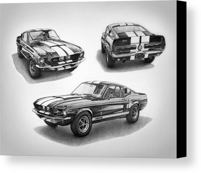 1967 Shelby Gt500 Mustang Canvas Print / Canvas Art by Nick Toth