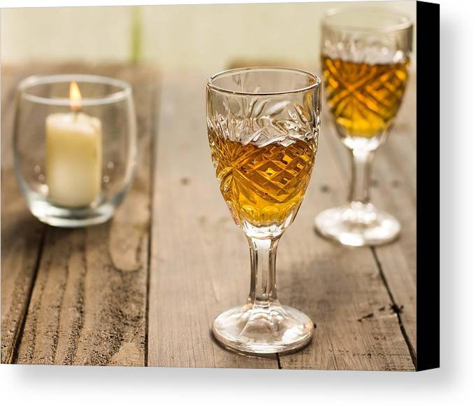 Candle Canvas Print featuring the photograph A Toast For Two by Jennifer Goodrich