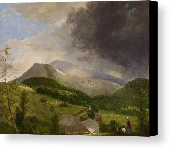 Couple Canvas Print featuring the painting Approaching Storm White Mountains by Alvan Fisher