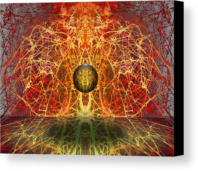 Canvas Print featuring the digital art Ball And Strings by Otto Rapp