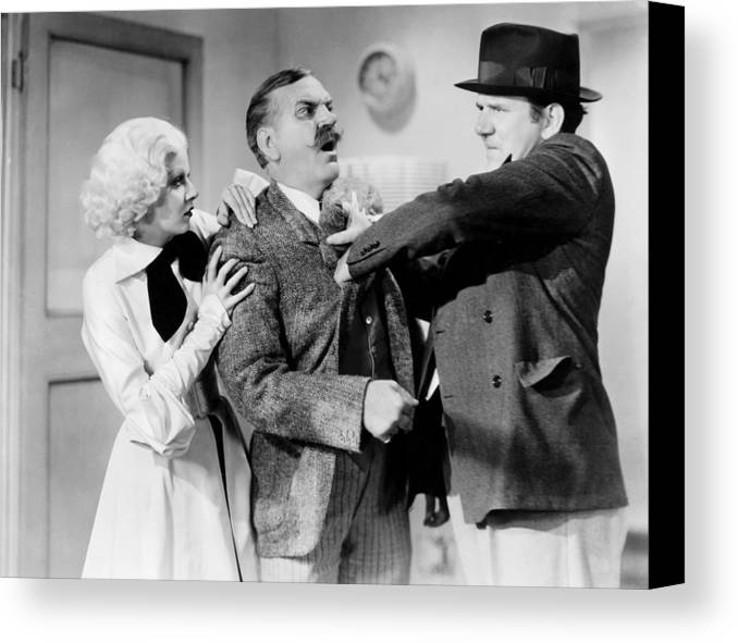 1930s Movies Canvas Print featuring the photograph Bombshell, From Left, Jean Harlow by Everett