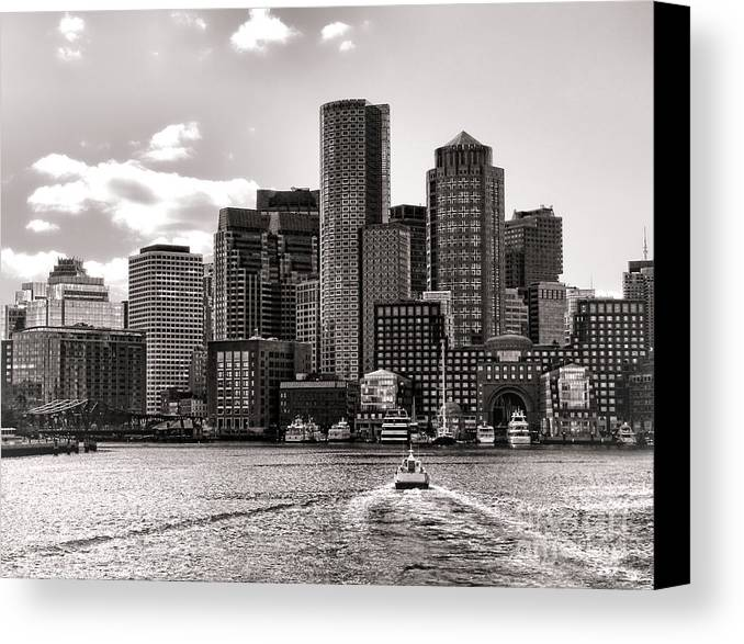 Boston Canvas Print featuring the photograph Boston by Olivier Le Queinec