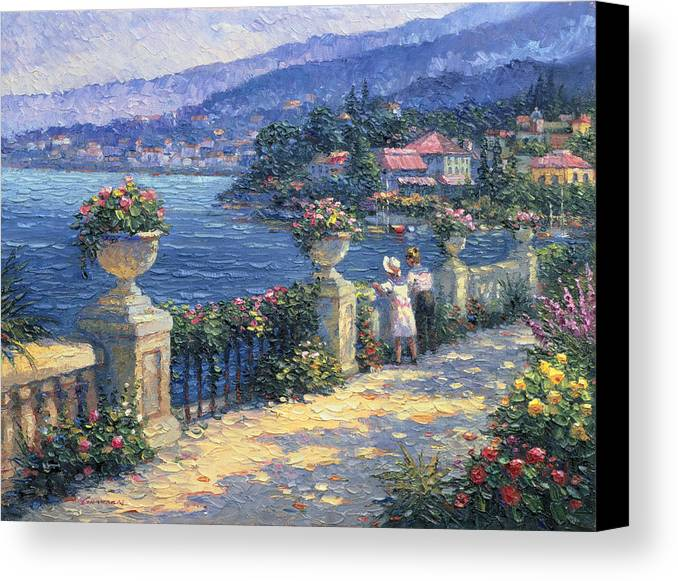 Woman Canvas Print featuring the painting Captivating Charm by Ghambaro