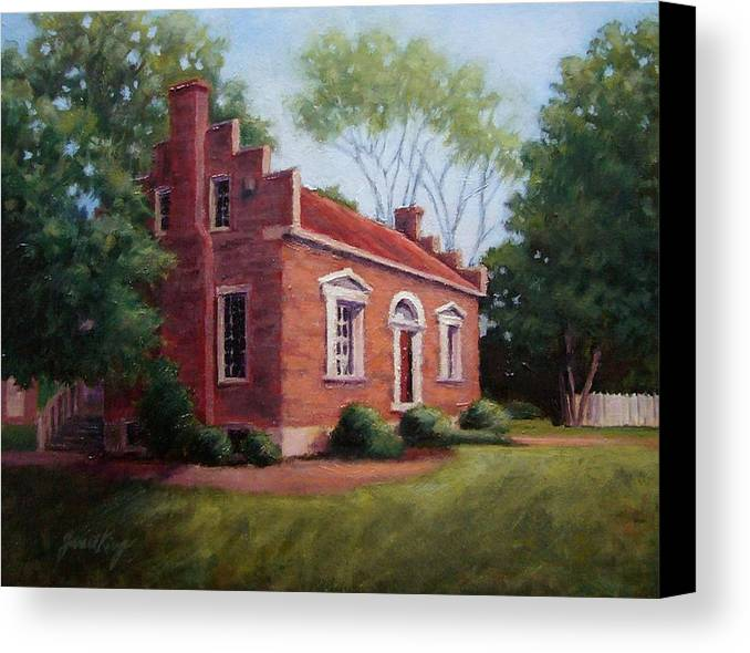 Carter House Canvas Print featuring the painting Carter House In Franklin Tennessee by Janet King