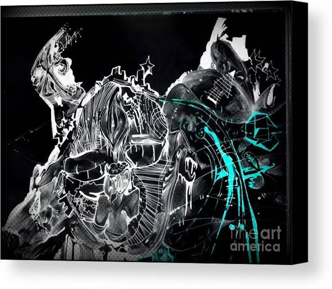 Big Bang Canvas Print featuring the drawing Creation by Daniel Brummitt