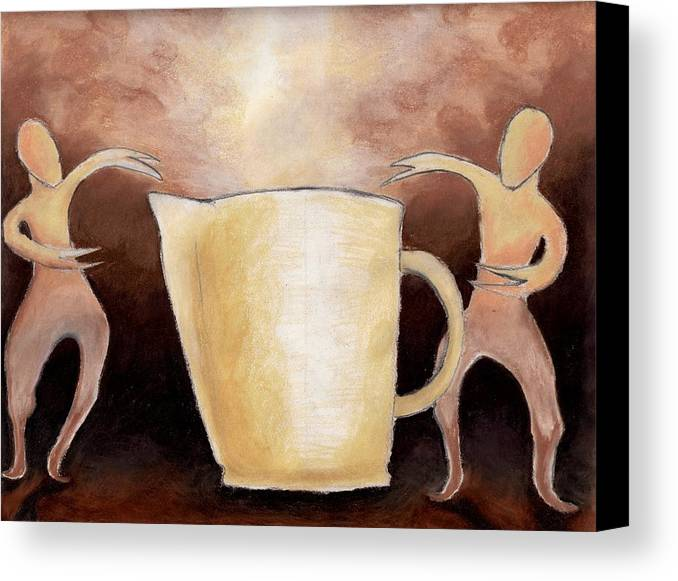 Cup Canvas Print featuring the drawing Creator Of The Coffee by Keith Gruis