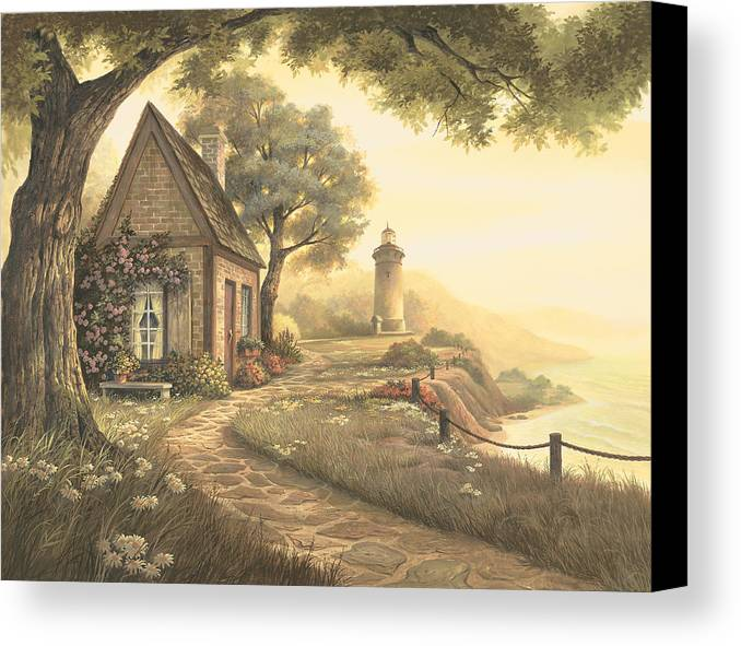 Michael Humphries Canvas Print featuring the painting Dawn's Early Light by Michael Humphries