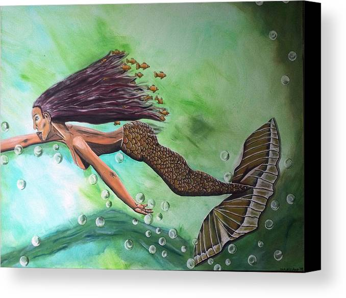 Menschen Canvas Print featuring the painting Dream by Mamu Art
