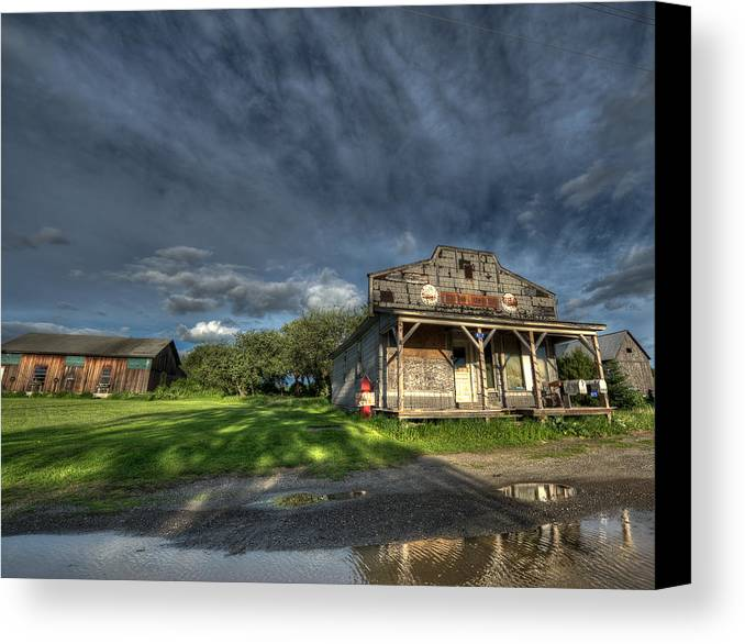 Dyer Brook Canvas Print featuring the photograph Dyer Brook General Store by Jeff Clark