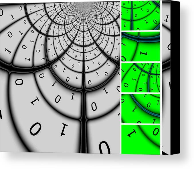 Internet Canvas Print featuring the digital art Encryption 3 by Aurelio Zucco