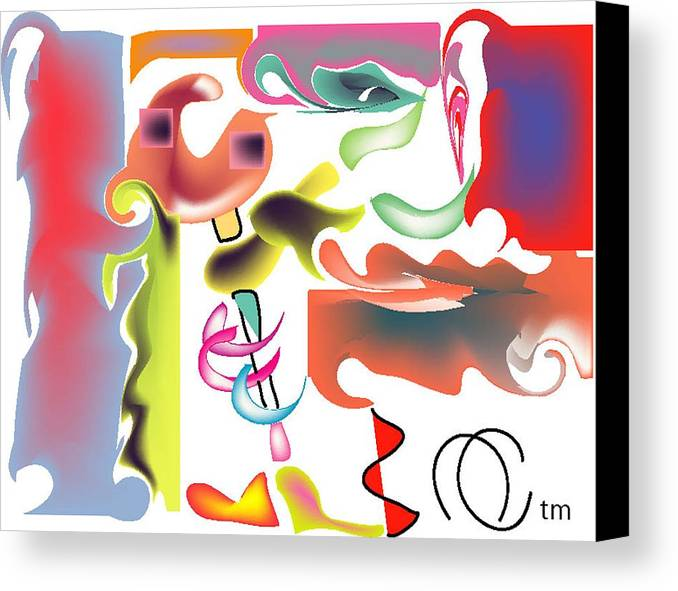 Life's Crazy Canvas Print featuring the digital art Fish Bone by Andy Cordan