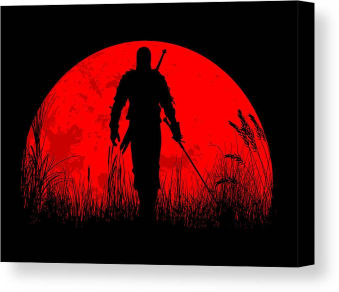 Geralt Canvas Print featuring the digital art Geralt Of Rivia by Danilo Caro
